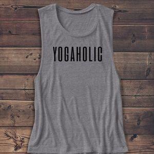 YOGAHOLIC MUSCLE TEE